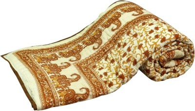 Sudharaj Paisley Double Blanket Brown