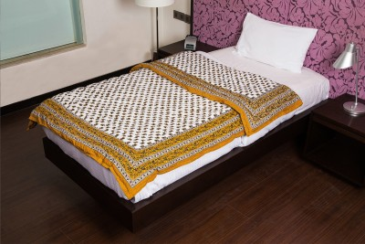 JaipurFabric Floral Single Quilts & Comforters Brown