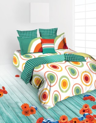 Tangerine Abstract King Quilts & Comforters Blue, White