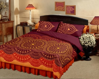 Raymond Home Abstract Double Quilts & Comforters Yellow