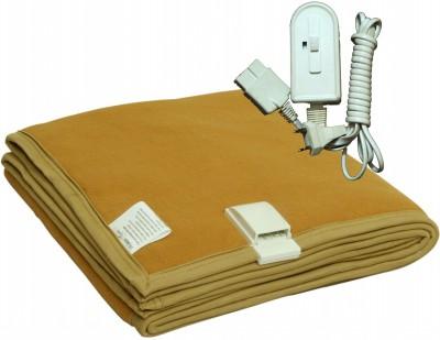 Winter Care Plain Single Electric Blanket Golden