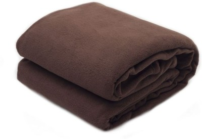 Paisa Worth Plain Double Blanket Brown