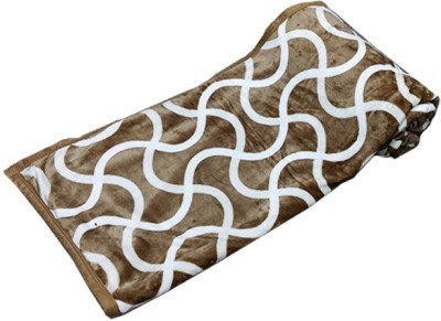 PROFTO Printed Double Blanket Brown
