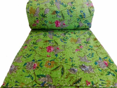 HAG Art and Craft Abstract Double Quilts & Comforters Green