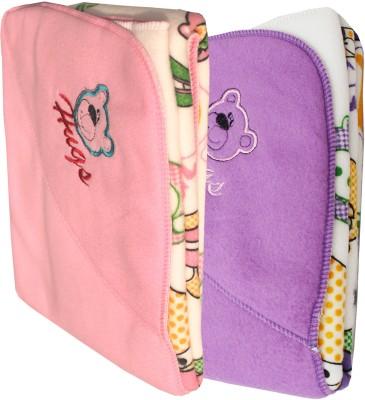 My NewBorn Cartoon Crib Hooded Baby Blanket Pink, Purple
