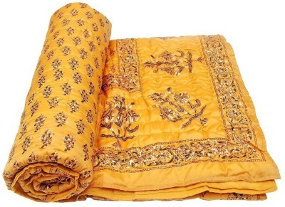 Cat Eye Export Floral Single Quilts & Comforters Golden