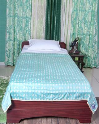 Cozy Sleeeeep Printed Single Dohar Lite Green