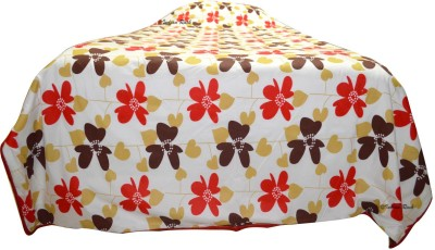 Indian Rack Floral Single Dohar, Quilts & Comforters Red, Brown