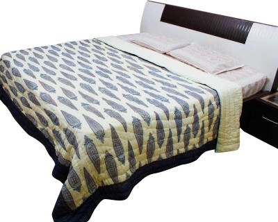 Indigocart Floral Double Quilts & Comforters Blue