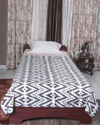 Cozy Sleeeeeep Printed Single Dohar White & Brown