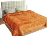 Ndecor Plain Double Blanket Golden (1 Bl...