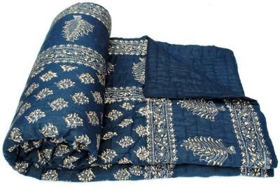 KRG ENTERPRISES Floral Single Quilts & Comforters Blue