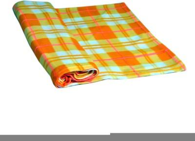 Divine Checkered Single Blanket Yellow