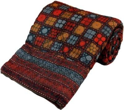 Bajya Geometric Double Quilts & Comforters Multicolor