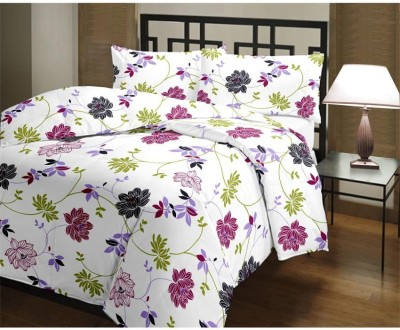 Ayushi Craft & Fashions Floral Single Blanket Multicolor