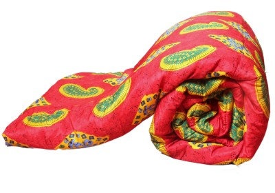 Aransa Floral Single Quilts & Comforters Red