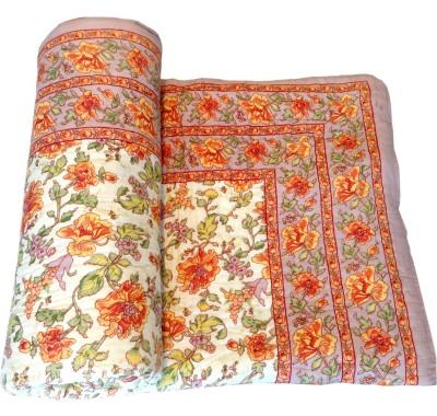 Factorywala Printed Single Quilts & Comforters Orange