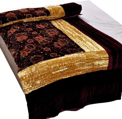 Kiran Udyog Floral Double Quilts & Comforters Maroon