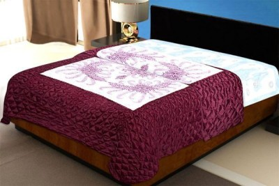 Chelsi Printed Double Quilts & Comforters Maroon