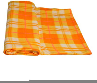 Divine Checkered Double Blanket Yellow