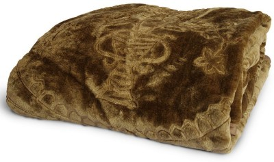 Tiajria Printed Double Blanket Brown