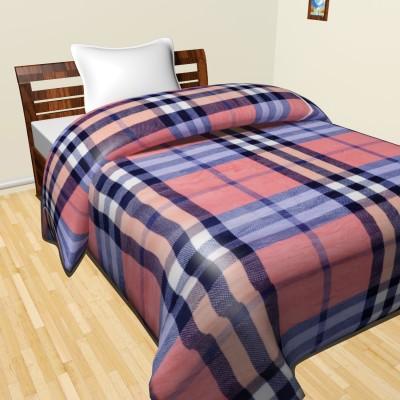 Krishnam Checkered Double Duvet Red