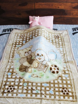 DickyBird Cartoon Crib Blanket Brown, Blue, Green, Black, Multicolor