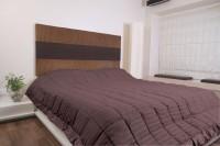 KIAANA USA Striped Single Quilts & Comforters Brown(Blanket)