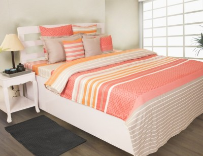 House This Printed Double Dohar Coral