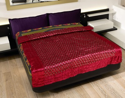 Rajasthan Craft Plaza Abstract Double Dohar Red, Golden