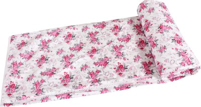 JaipurFabric Floral Single Quilts & Comforters White