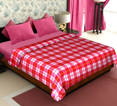 Story@home Checkered Double Blanket Red(Fleece Blanket, 1 Pc Blanket)