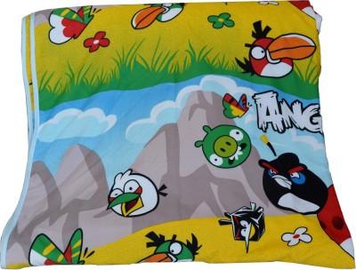 Deals For Bulk Cartoon Single Blanket Yellow