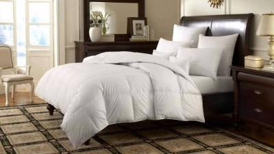 Valtellina Plain Single Quilts & Comforters White