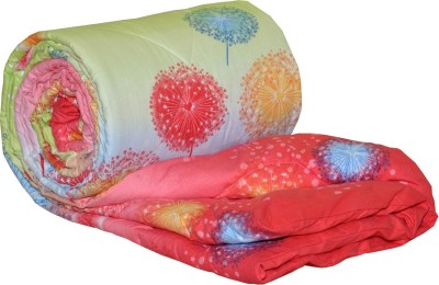 AJ Home Floral Single Quilts & Comforters Red
