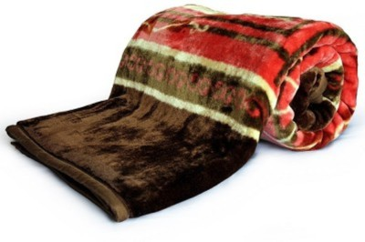 Marwal Floral Double Blanket Brown