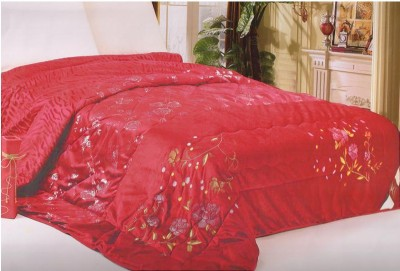 Welhouse India Floral Single Blanket Red
