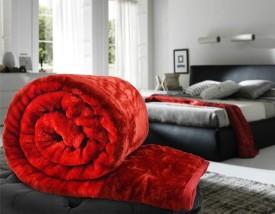 Shivamconcepts Floral Single Blanket Red(Mink Blanket, 1 blanket)