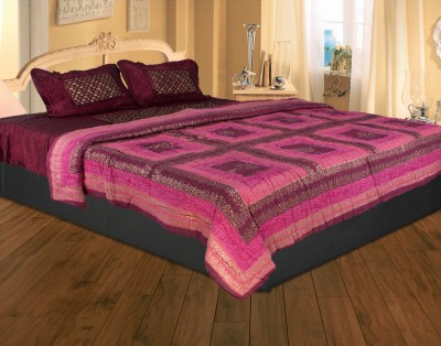 Rajasthan Crafts Geometric Double Quilts & Comforters Red