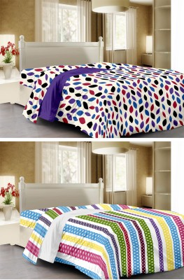Story @ Home Abstract, Striped Single Dohar Multicolor