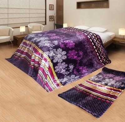 Aapno Rajasthan Floral Single Blanket Purple