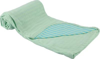 MOS-QUIT-O Plain, Striped Single Blanket Light Green