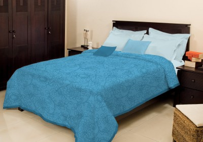 Bombay Dyeing Plain Double Blanket Blue