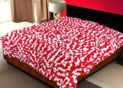Zikrak Exim Floral Single Blanket Red, White