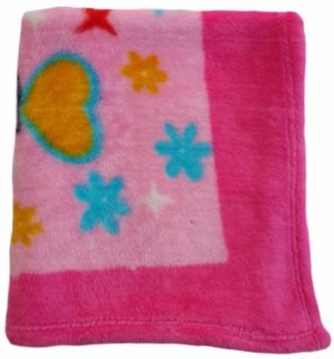 Brandonn Floral Single Blanket Pink