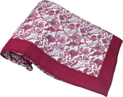 Elan Dreams Floral Single Dohar Bright Pink