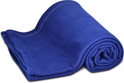 Peponi Plain Double Blanket Blue
