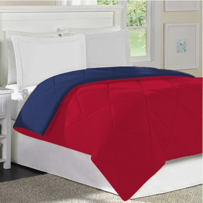 Home Bee USA Plain Single Quilts & Comforters Navy Red