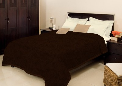 Bombay Dyeing Plain Double Blanket Brown