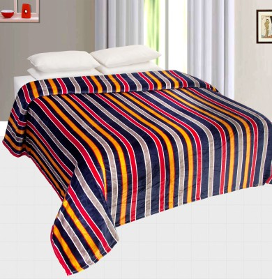 Nite N Day Striped Double Blanket Multicolor